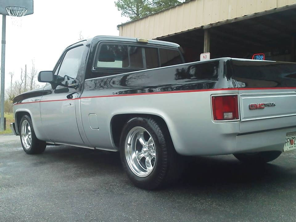 1984 chevrolet c10 with 17x8 and 17x9 5 torq thrust ii wheels