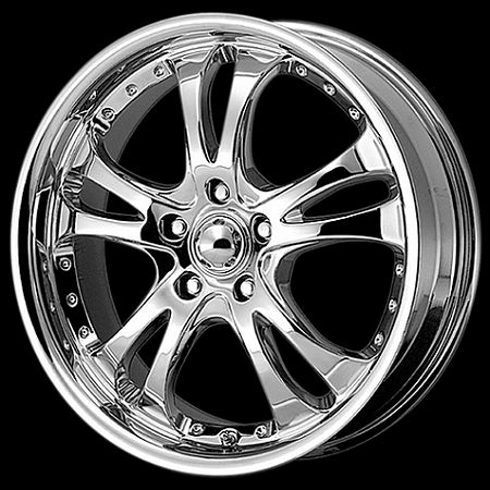 AR68377566 Chrome Casino 17x7.5 5x4.5 +45MM Offset