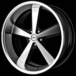 Nova 20x8.5 and 20x10 5x5.0 Wheel and Tire Package