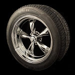 PVD Chrome Torq Thrust II 18x8 & 20x10 5x4.75 Staggered Package