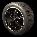 Foose Black Legend 17x7 5x4.5 Wheel & Tire Package