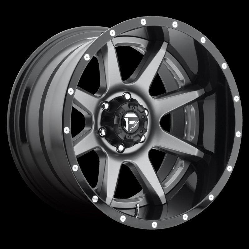 Fuel Gray D23820005647 D238 Rampage 20x10 5x150 19mm