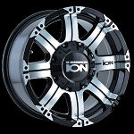 ION 187 - BLACK/MACHINED FACE/MACHINED LIP 16x8 5x4.5/5x5.0 +10mm 87mm