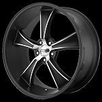 Black BLVD 20x8.5 - 20x10 5/120 Wheel and Tire Package