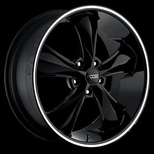 "Black Legend SS 20x8.5 5/120 6.1"" Backspace"
