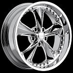Nitrous 5 17x8 & 17x9.5 5x4.5 Staggered Wheel Set
