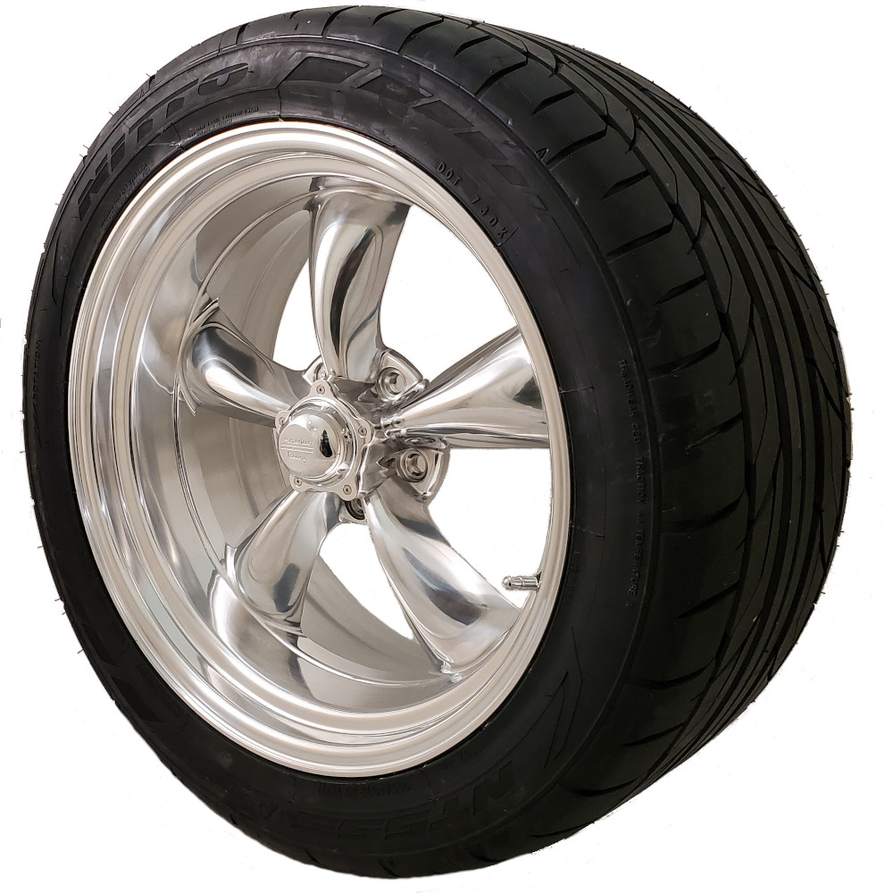 Torq Thrust II 20x8 & 20x10 5x4.75 Staggered Wheel and Tire Package Set of Four