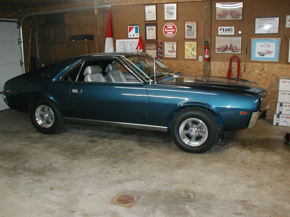 1969 AMC AMX with Classic Torq Thrust II Wheels