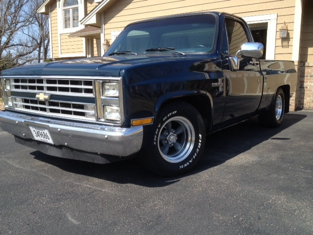 1985 Chevy C10 with Classic Torq Thrust II Wheels