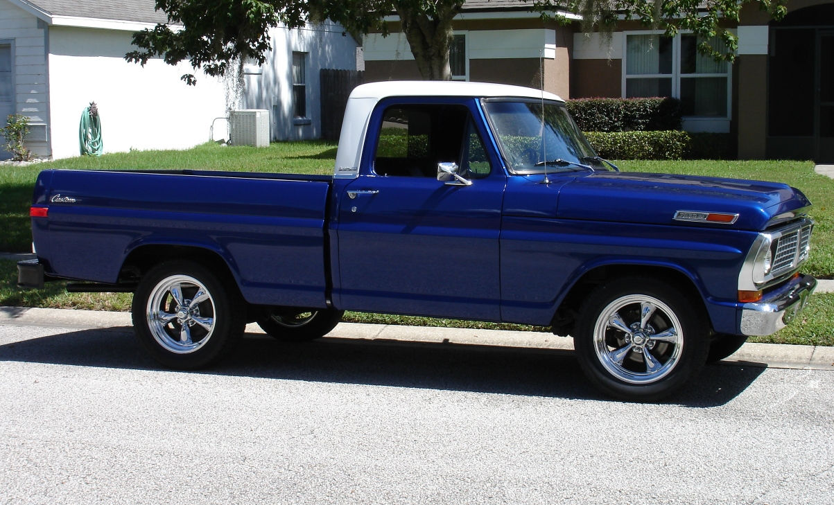 1970 Ford F100 Pickup Truck With Custom Built Torq Thrust Ii Wheels