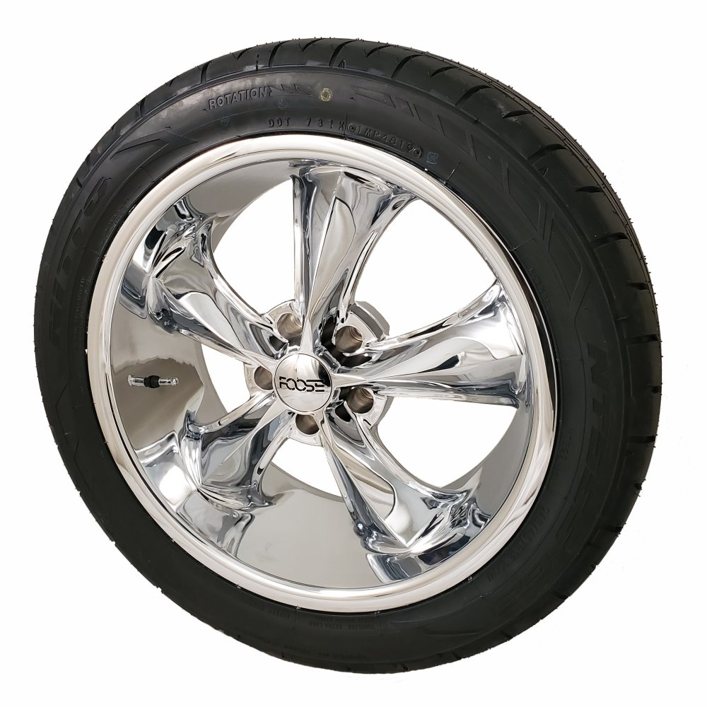 Foose Legend 17x7 5x4.5 Wheel and Tire Package Set of Four