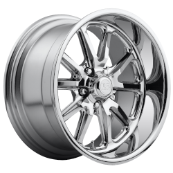 Chrome Rambler 1pc 17x7 5/4.5 +1MM Offset