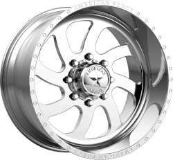 Blade SS 20x10 Polished - Left Directional 8x165.1 (8x6.5) Bolt Pattern -25mm Offset