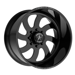 Blade SS 20x9 Gloss Black Machined - Left Directional 8x170 Bolt Pattern 0mm Offset