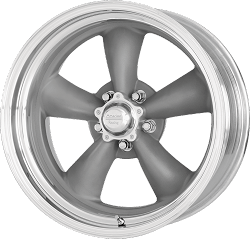 Classic Torq Thrust II One Piece 20x10 Mag Gray Machined Lip Blank Bolt Pattern 5.74