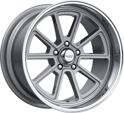 Draft 18x8 Vintage Silver Diamond Cut Lip 5x127 (5x5) Bolt Pattern 4.50