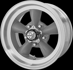 "17/"" Torq Thrust II VN515 Polished Classic Wheel 17x8 5x4.75 8mm 5 Lug Vintage"