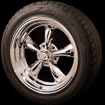 Chrome Torq Thrust II 18x7 5x4.75 Wheel and Tire Package Set of Four