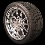 Chrome Rodder 20x8 & 20x9.5 5x5.0 Wheel and Tire Package GM Pickup
