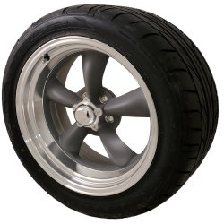 Classic Torq Thrust II 20x8 & 20x10 5x5.0 Staggered Wheel and Tire Package Set of Four