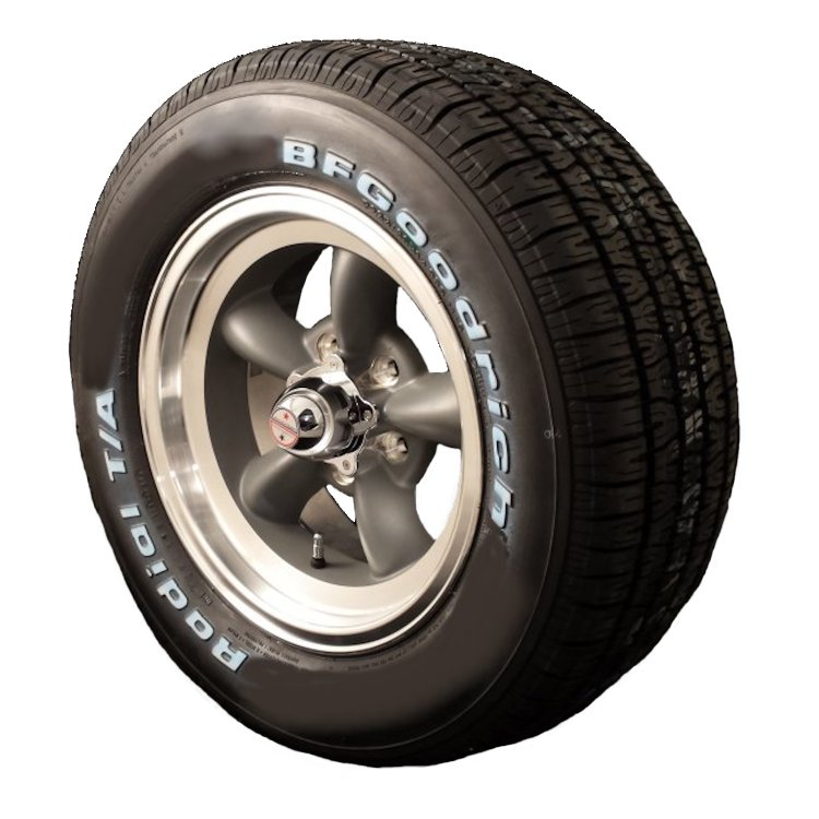 Torq Thrust D 15x7 & 15x8 5x4.5 Wheel and Tire Package Set of Four
