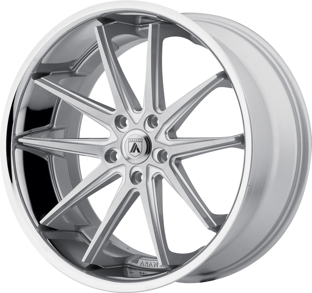 Altair 20x10 Silver Machined SS Lip 5x112 Bolt Pattern 45mm Offset