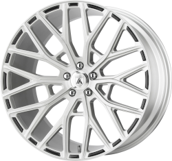 Leo 20x10.5 Brushed Silver Blank Bolt Pattern 20mm Offset