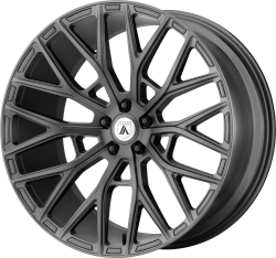 Leo 20x10.5 Matte Graphite Blank Bolt Pattern 20mm Offset