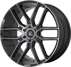 Baron 20x9 Gloss Black With Gray Tint 6x139.7 (6x5.5) Bolt Pattern 30mm Offset