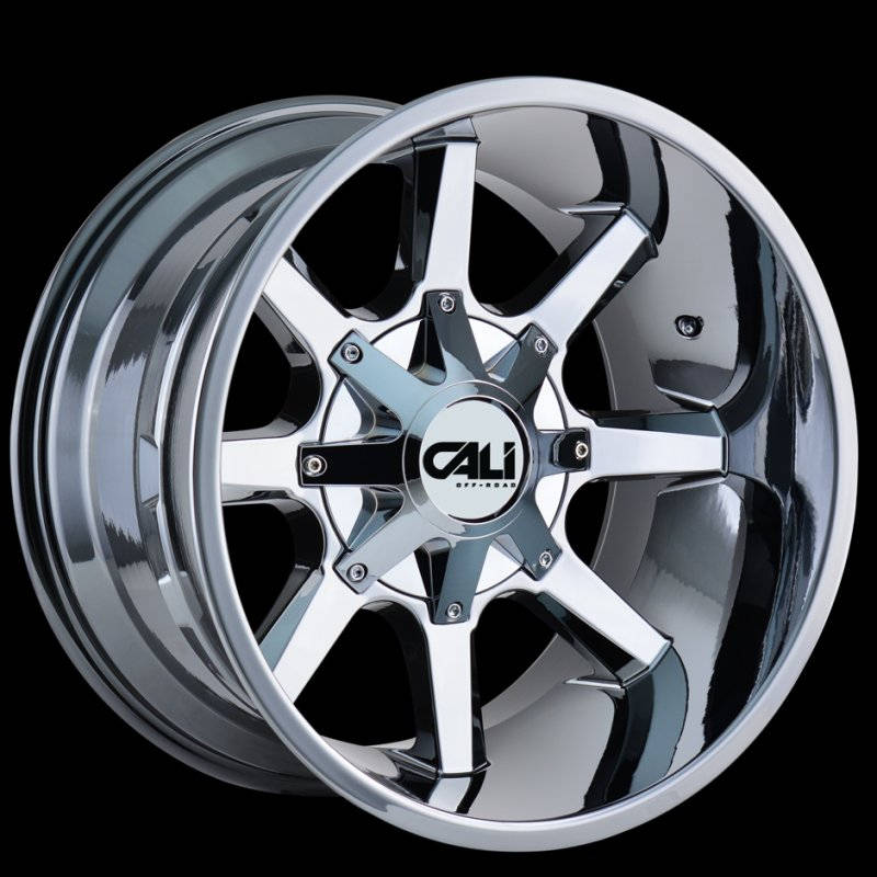 9100 2237p2d Busted Pvd Chrome 20x12 6x135 6x5 5 44mm