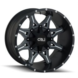 OBNOXIOUS 9107 SATIN BLACK - MILLED SPOKES