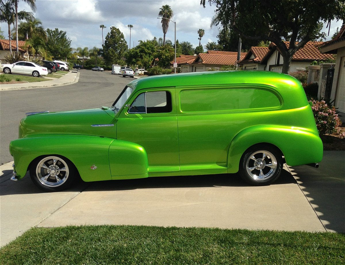 1948 Chevy Sedan Delivery with Torq Thrust Wheels