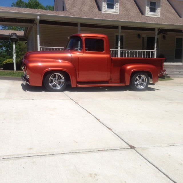 1956 Ford F100 With Billet Specialties Mags