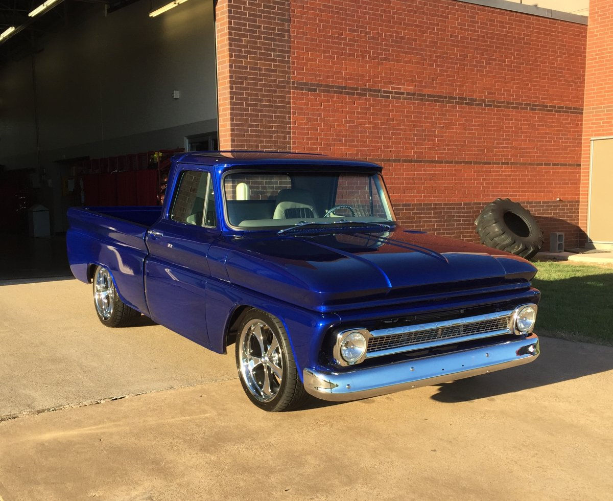 1964 Chevy C10 With 20 Quot Chrome Ridler 645 Wheels