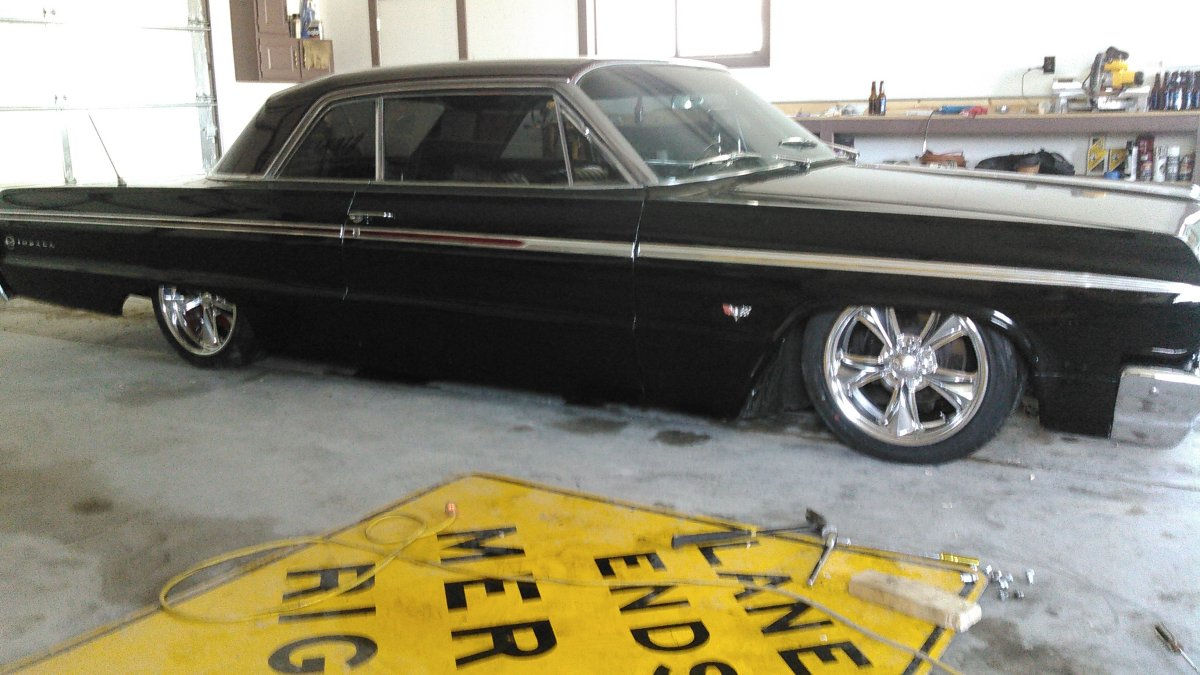 1964 Impala with Staggered 695s