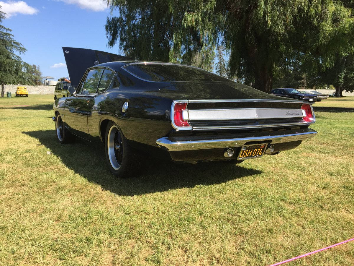 1967 Plymouth Barracuda with Black Ridler 695 Wheels