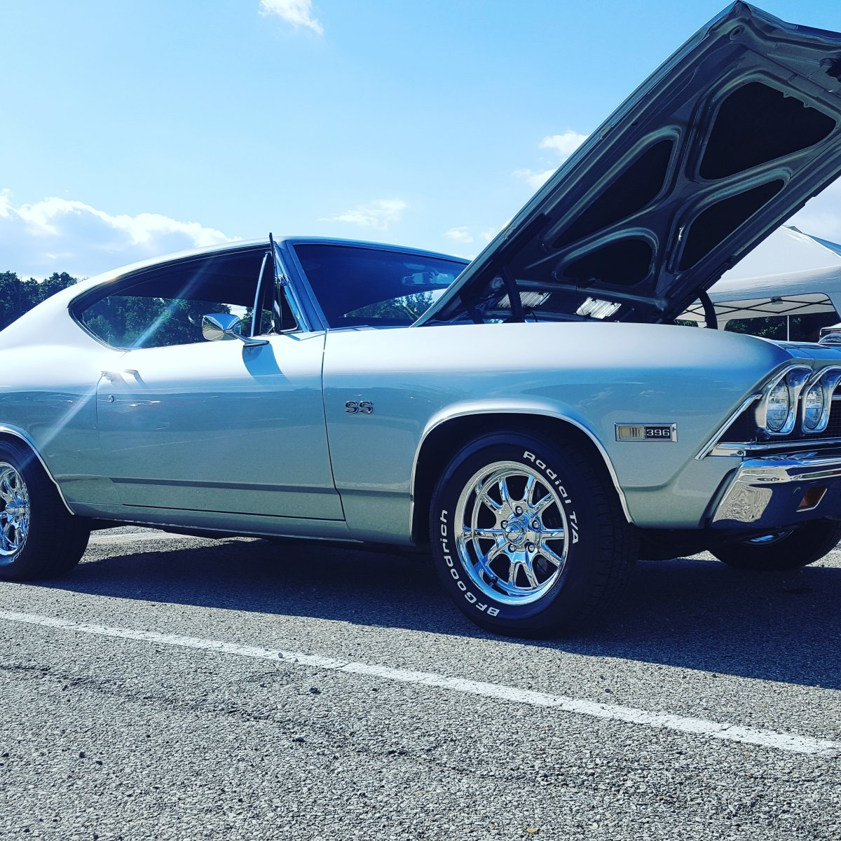 1968 Chevelle with 15x7 and 15x8 Ridler 650 Wheels