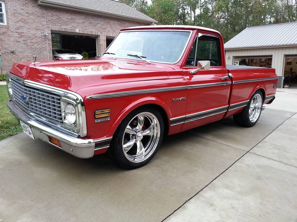 22 Inch Tires >> 1972 Chevrolet C10 with 20x8 and 20x10 Torq Thrust II Wheels
