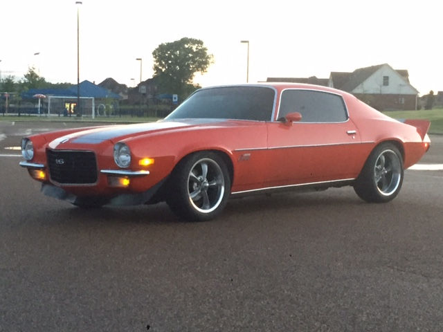 1972 Camaro with 17x7 and 18x9.5 Ridler 695