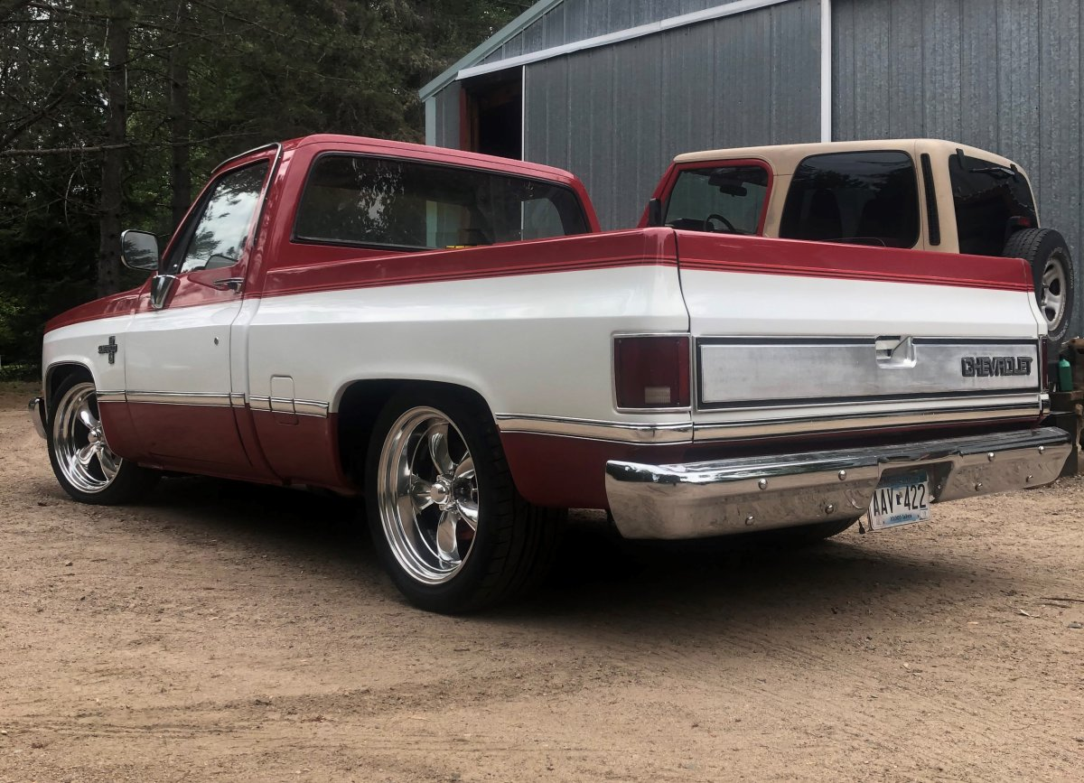 1984 C10 with 20 inch Torq Thrust Package