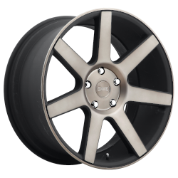 Future 22x9.5 Matte Black Double Dark Tint 6x139.7 (6x5.5) Bolt Pattern 19mm Offset