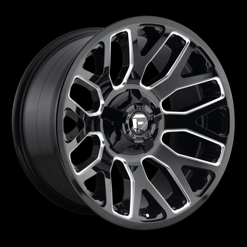Fuel Truck Wheels >> Fuel D60720909857 D607 Gloss Black and Milled Warrior 20x9 ...