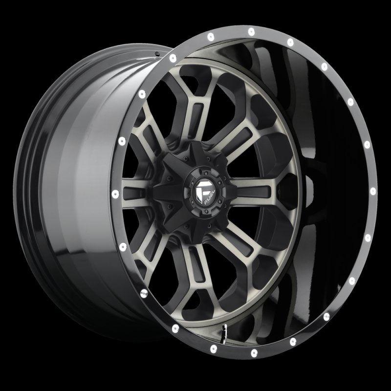 Fuel Flat Black D26822201747 D268 Crush 22x12 8x170 44mm