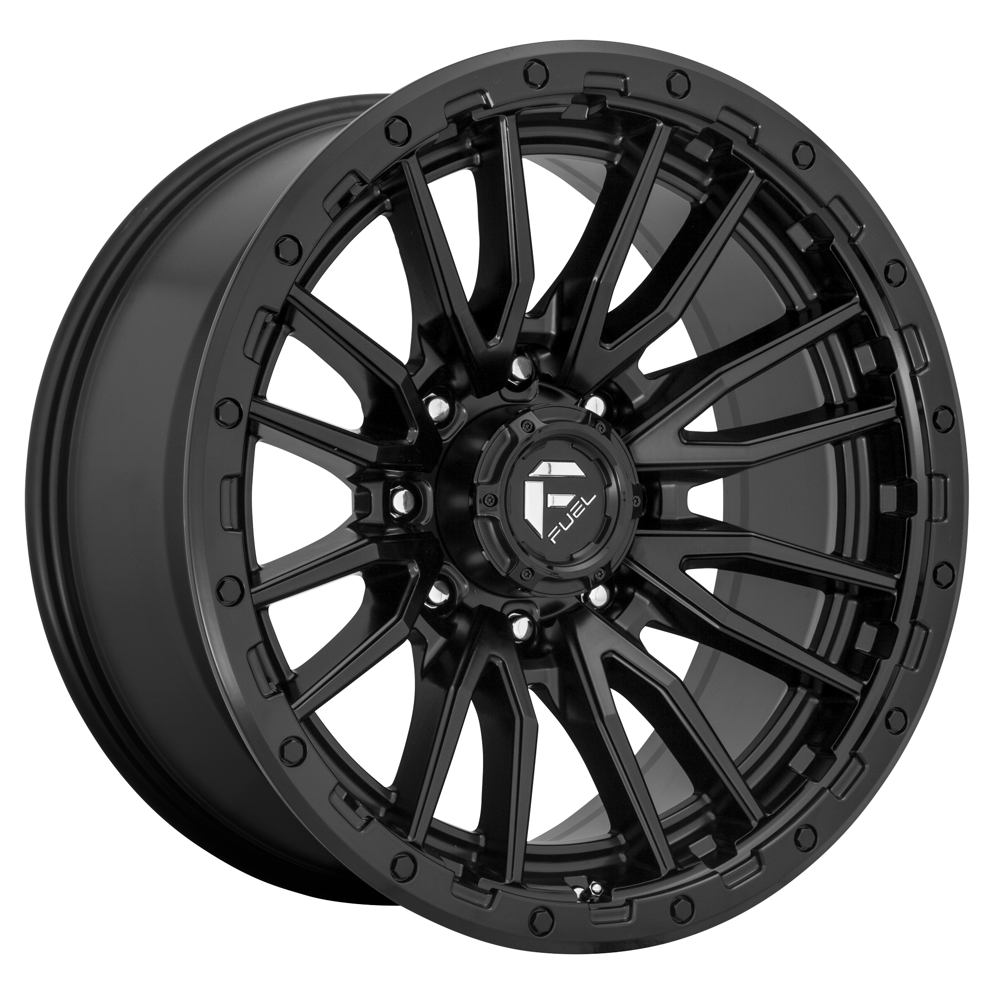 Rebel 22x12 Matte Black 8x180 Bolt Pattern -44mm Offset