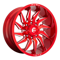 D745 Saber 20x10 8x170 Gloss Red-Milled -18mm