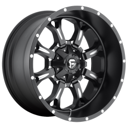 Krank 18x9 Matte Black Milled 6x135, 6x139.7 (6x5.5) Bolt Pattern -13mm Offset