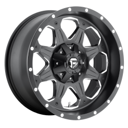 Boost 17x9 Matte Black Milled 5x127 (5x5), 5x139.7 (5x5.5) Bolt Pattern -12mm Offset