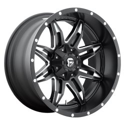 Lethal 15x10 Gloss Black Milled 5x114.3 (5x4.5), 5x120.65 (5x4.75) Bolt Pattern -43mm Offset