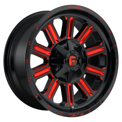 Hardline 15x8 Gloss Black Red Tinted Clear 5x114.3 (5x4.5), 5x120.65 (5x4.75) Bolt Pattern -18mm Offset