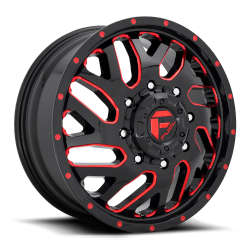 Triton 20x8.25 Gloss Black Red Tinted Clear 8x165.1 (8x6.5) Bolt Pattern 105mm Offset